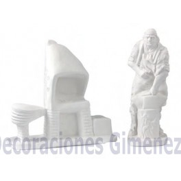 HERRERO CON FORJA 2 PIEZAS